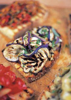 Aubergine Bruschetta | Bread Recipes | Jamie Oliver Recipes