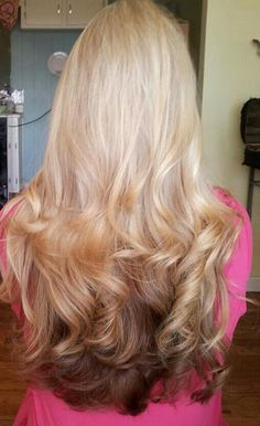 Reverse Ombre Hair.