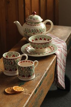 "Interesting -- [""Love Emma Bridgewater, we have several of her pieces~ Churchmouse Yarns & Teas ~ Emma Bridgewater Joy ~""]"