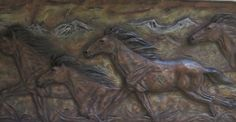 MILL CREEK DRINKERS OF THE WIND-HORSES Plaque Wall Hanging  Western Danny Edward #Horses #Surrealism