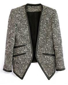 V-neck Solid Slim Coat.1