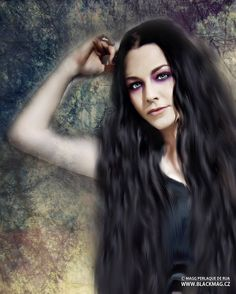 New digital painting with Amy Lee (Evanesecence) , full view on www.blackmag.cz or www.artwork.blackmag.cz