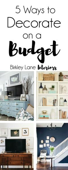 Click here for five amazing ways to decorate on a budget! Get inspired and motivated to update your home the affordable way. Decorate on a budget, decorate on a dime, decorate on a budget ideas, decorate on a budget home, decorate on a budget apartment, d