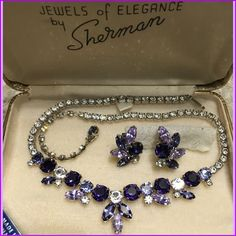 A personal favorite from my Etsy shop https://www.etsy.com/ca/listing/464147394/sherman-necklace-with-earrings-purples