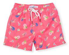 7e1b4636b8 NEW! Boys Classic Swim Trunk Flyfish - Happy Pink Baby Boy Swimwear, Baby  Swimsuit