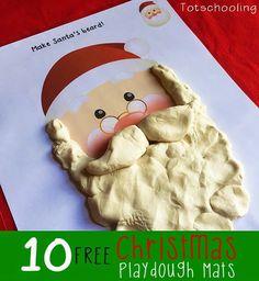 Free Christmas Playdough Mats | Totschooling - Toddler, Preschool, Kindergarten Educational Printables
