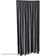 Grey Fire Rated Pass NFPA 701 Velvet Curtain Panels.