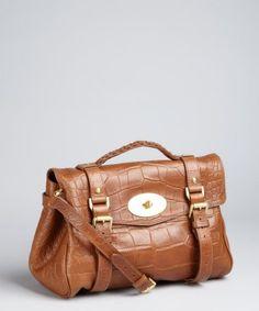 a2b3276c04bf Mulberry oak croc embossed leather  Alexa  buckle satchel Mulberry Alexa