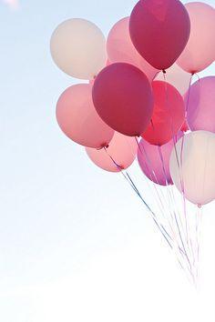 Balloons + blue skies