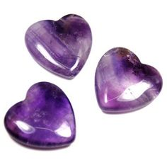 Amethyst Heart China 34 A  1pc * Click image for more details.