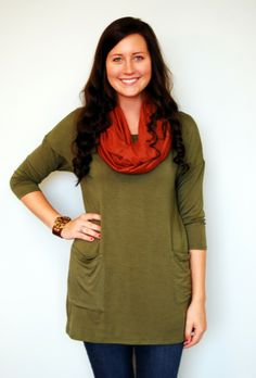 Button Me Up Olive Tunic ‹ Walker Pharmacy & Boutique
