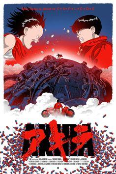 "pixalry: ""Akira Poster - Created by Marko Manev"" Animation, Akira Poster, Akira Anime, Manga Anime, Anime Art, Katsuhiro Otomo, Fanart, Super Anime, Non Plus Ultra"