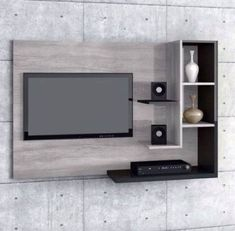 6 Valuable Clever Tips: Floating Shelves Next To Tv Wall Mount floating shelves with tv modern living.Floating Shelves With Lights Built Ins floating shelves with tv modern living. Bedroom Wall Decor Above Bed, Tv Wall Decor, Tv In Bedroom, Bedroom Decor, Trendy Bedroom, Bedroom Small, Bedroom Lighting, Bedroom Black, Wood Bedroom