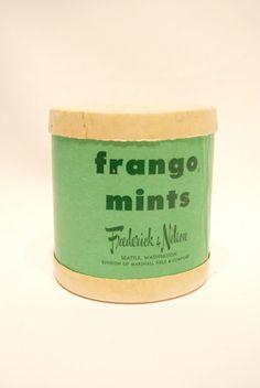 Vintage Fango Mints Box from Frederick and Nelson of Seattle Washington   www.streettreatswa.com/
