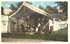 A Typical Family Tent at Euclid Beach Park, Cleveland, Ohio
