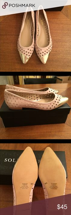 Sole Society Madyson flats 7.5 NIB Sole Society Madyson flats. Gorgeous leather flats that are perfect for ALL outfits! You will absolutely love these!! size 7.5 and fit true to size. Leather upper, man made sole. Gold cap toe that give them such a chic look Sole Society Shoes Flats & Loafers