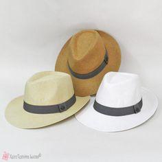 Unisex ψάθινο καπέλο σε 3 χρώματα
