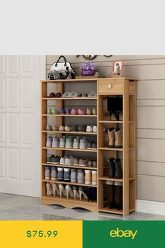 Shoe Organizers Home & Garden Shoe Rack With Shelf, Wood Shoe Rack, Shoe Racks, Rack Shelf, Shoe Storage Design, Rack Design, Store Design, Trendy Furniture, Furniture Decor