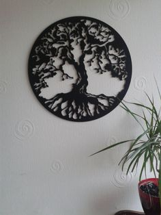 Hand drawn & laser cut metal wall art Tree of Life by StagArtwork, £45.00