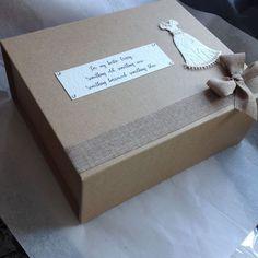 Brides Personalized Keepsake Box something old, something new. Wedding Keepsake Boxes, Wedding Keepsakes, Rustic Wedding Gifts, Personalized Wedding Gifts, Something New, Bride Gifts, Place Card Holders, Weddings, Brides
