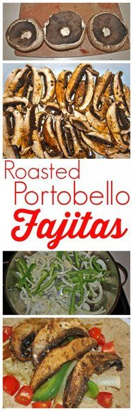 These Roasted Portobello Fajitas are the BEST vegetarian recipe! Such a quick and easy weeknight meal--perfect for Meatless Monday!