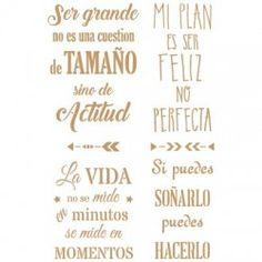 Stencil Deco Texto 052 Frases Positivas