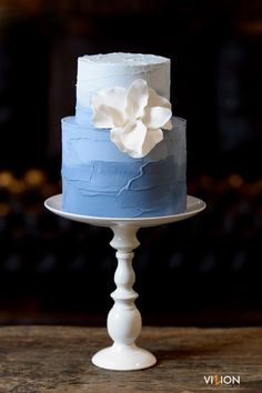 Wedding and Celebration Cakes Orlando Florida Beautiful Wedding Cakes, Beautiful Cakes, Fete Emma, Naked Cakes, Buttercream Wedding Cake, Ombre Cake, Blue Cakes, Wedding Desserts, Cake Wedding