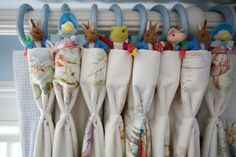 Beatrix Potter Curtain with Goblet Pleated Curtains