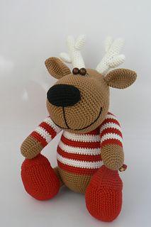 Crochet pattern: Christopher the Reindeer by Katka Reznickova
