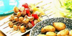 Gotowy prawie na wszystko...: Szaszłyki z polędwiczki wieprzowej marynowane w pi...