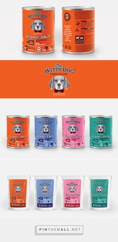 Graphic design and packaging for The Witty Dog on Behance by Sofya Ozbozkurt Istanbul, Turkey  curated by Packaging Diva PD. Cute dog food  for the packaging smile file : ) PD