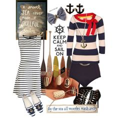Nautical themed outfits and accessories by rosebud-2 on Polyvore featuring Theory, Joules, River Island, Zara, Givenchy, Jules Smith and Linea