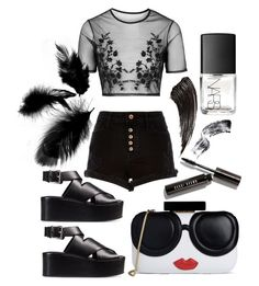 """Love you forever not maybe"" by lauracooperrrr on Polyvore featuring Topshop, River Island, Bobbi Brown Cosmetics, NARS Cosmetics, Alexander Wang and Alice + Olivia"