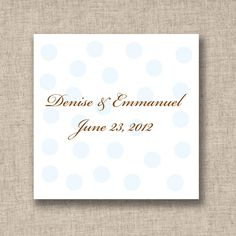 Polka Dots Wedding Favor Tags (available in other colors) | #exclusivelyweddings | #lightbluewedding