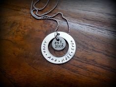 I want THIS for Christmas Stepfamily necklace  Blended Family  established year by jemsinc, $22.00