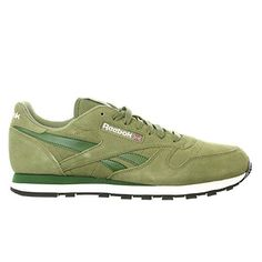 competitive price 41f5d 8768f Reebok-Mens-Classic-Leather-Suede-Classic -Shoe-Canopy-GreenScout-GreenWhiteBlack-9-M-US-0
