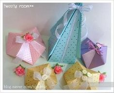 DIY for two origami containers Origami Gift Bag, Cute Origami, Paper Crafts Origami, Diy Paper, Origami Boxes, Homemade Mothers Day Gifts, Diy Baby Gifts, Handmade Gifts, Paper Gift Box
