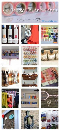21 {Handy Holder} Ideas   curated by 'Crafting in the Rain' blog!