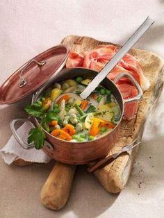 Schnüsch: Bohnen-Gemüse-Eintopf mit Katenschinken - Rezept