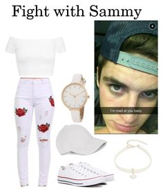 """Fight with Sammy Wilk"" by neda-di on Polyvore featuring Pilot, Le Amonie, Alice + Olivia, Converse and Design Lab"