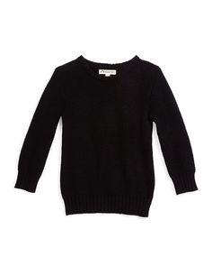 Mercer Pullover Sweater, Black, Size 4T-14