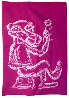 Bjarne Melgaard - Ullpledd fra Røros Tweed, rosa/natur Jan Van Eyck, Institute Of Contemporary Art, London Art, Artist At Work, Tweed, Neon Signs, Fine Art, Rose, Art