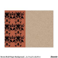 Brown Kraft Paper Background Printed Postcard