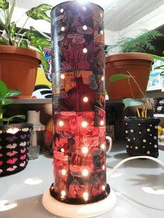 Canto do Pano Artesanato: Luminária Quadrinhos em PVC