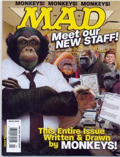 Mad Magazine wth monkey cover