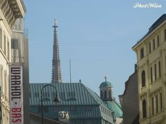 PhotoWien by RLeeb, St.Stephen's Cathedral and Peterskirche rooftops seen from Freyung