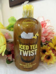 NWT Bath & Body Works Temptations ICED TEA TWIST 3-IN-1 Body Wash, Bubble Bath & #BathBodyWorks