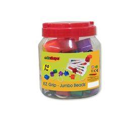 Edushape 839050 Ez-Grip Jumbo Beads - 58 Pieces