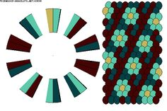 Strings: 20 Colors: 4 K9595 - friendship-bracelets.net