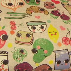 print & pattern: PAPERCHASE - pantry peepers FOOD WITH FACES!